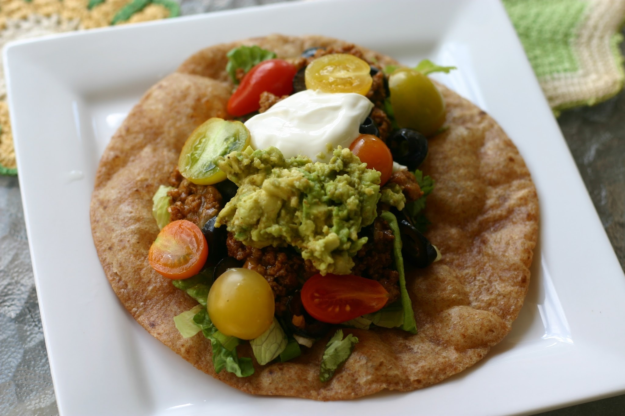 National Guacamole Day: Mexican Ground Turkey Taco-stada with Guacamole