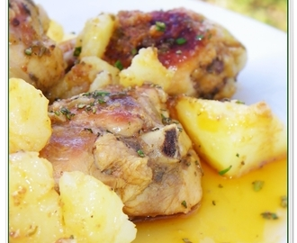 POLLO IN POTACCHIO CON PATATE