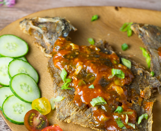 Crispy Fried Sole with Sweet Spicy Sauce