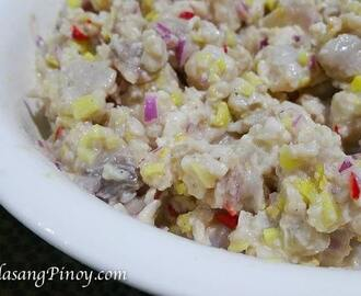 Kinilaw na Tanigue Recipe (Fish Ceviche)
