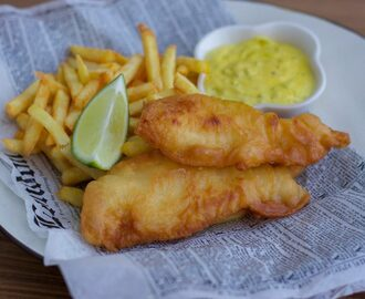 Fish and Chips med remouladsås