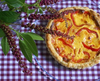 Red Pepper & Spicy Chorizo Quiche