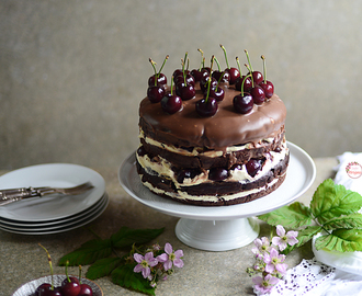 Chocolate and Cherry Cake / Bolo de Chocolate e Cerejas.