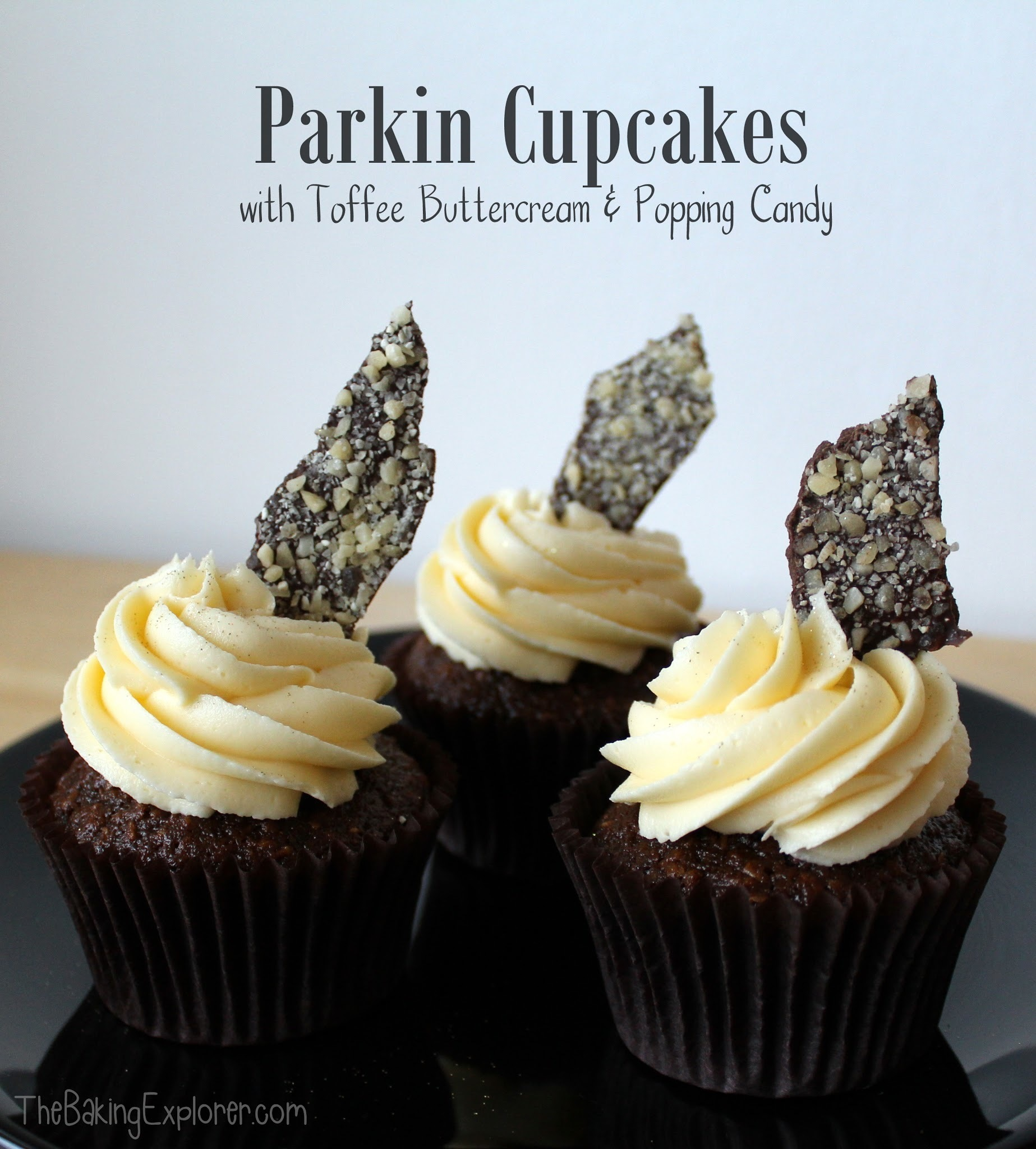 Parkin Cupcakes with Toffee Buttercream & Popping Candy