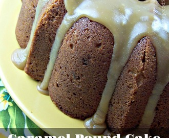 Caramel Pound Cake with Salted Toffee Glaze
