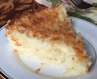 Crustless Coconut Custard Pie