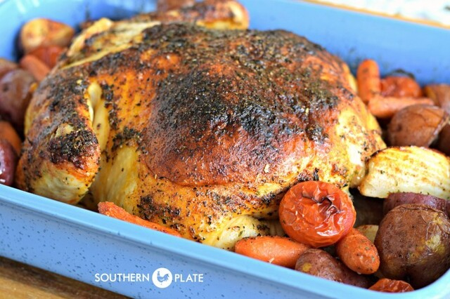 Butter Roasted Chicken – and our October Beach Trip