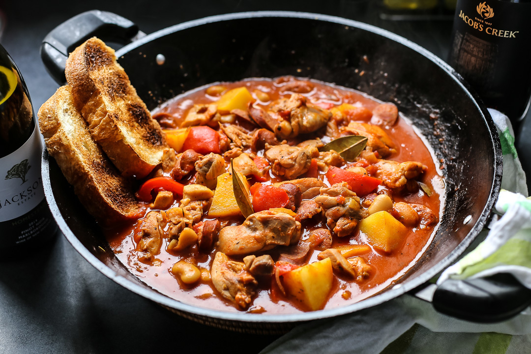 Spanish Chicken, Chorizo and Potato Stew