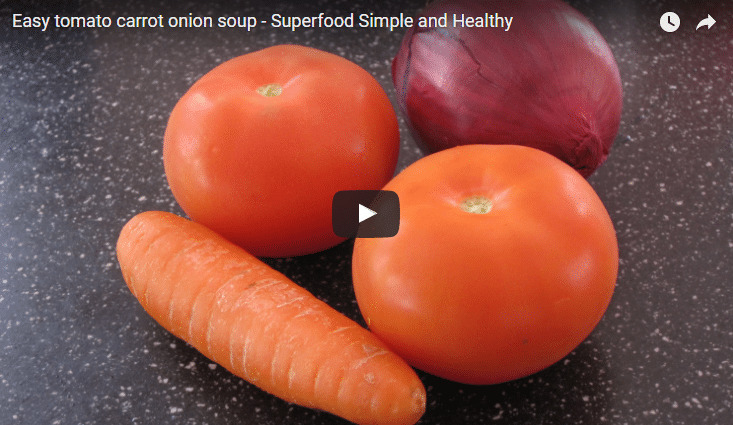 Tomato Carrot Onion Soup Recipe Video