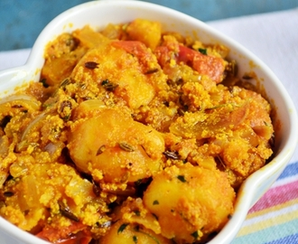 Kashmiri dum aloo recipe, how to make kashmiri dum aloo