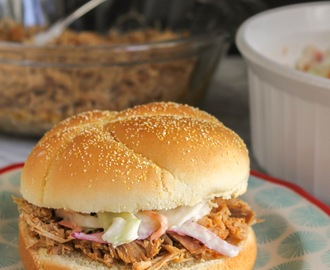 Shredded Pork & Spicy Slaw Sandwiches