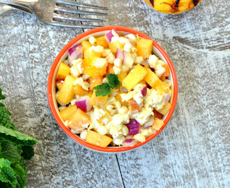 Curried Peach Corn Salsa
