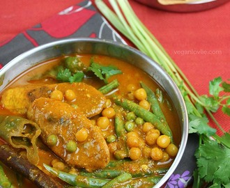 Veganlovlie's Plantain & Whole Yellow Peas Curry