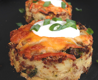 Baked Leftover Mashed Potato Cakes