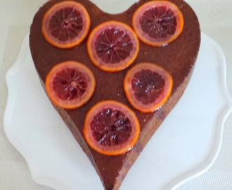 Gâteau à l'orange sanguine (Cake with blood orange)