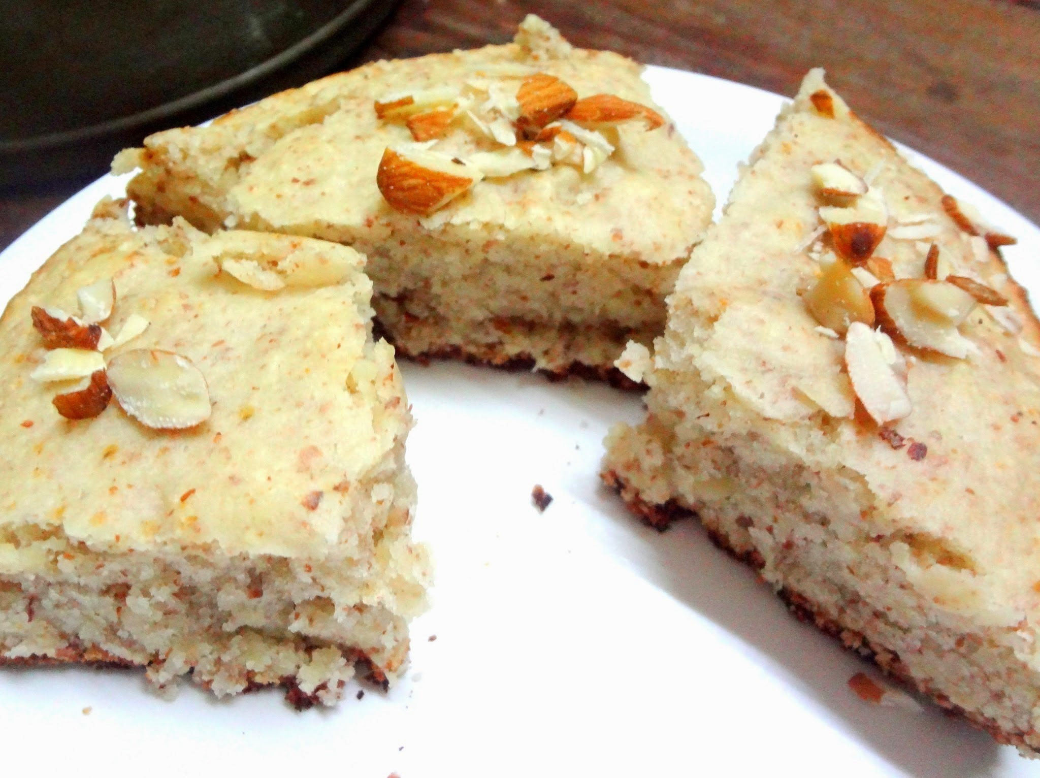 ALMOND CAKE ( EGGLESS)