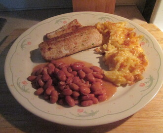 Fried Walleye w/ Cheesy HashBrown Potatoe's and Seasoned Pinto Beans