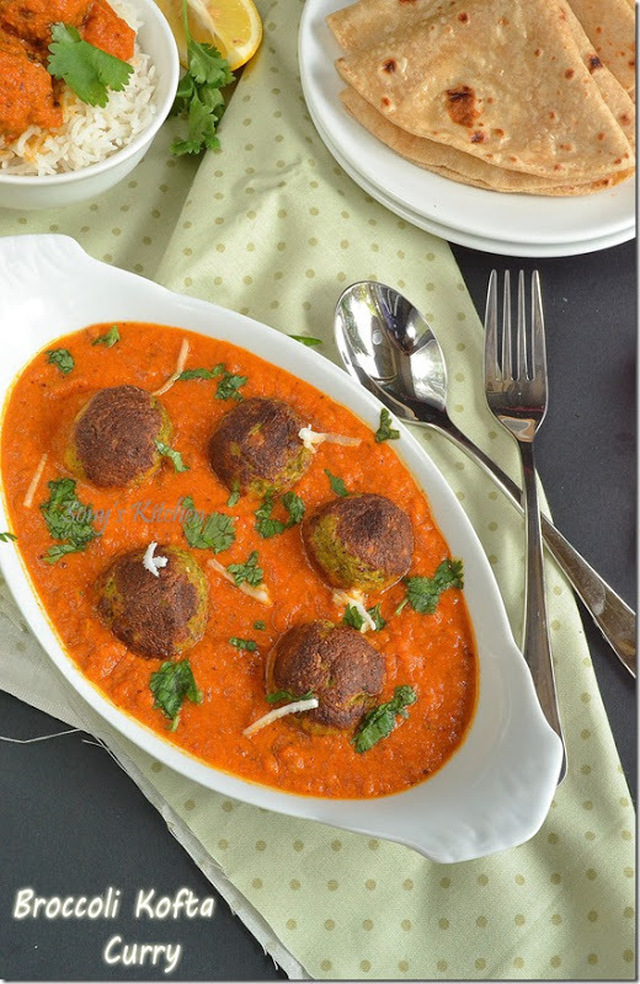 Broccoli Kofta curry–Side Dish For Roti/Chapati