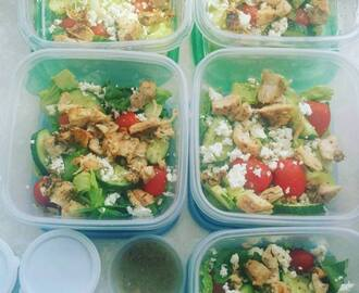Lunch Meal Prep - Chicken Greek Salad