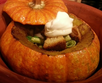 Wicked | Pumpkin Soup with Creme Fraiche and Croutons