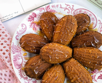 Pumpkin Spice Madeleines with Salted Caramel and Win a Weekend in Paris with Leisure Jobs