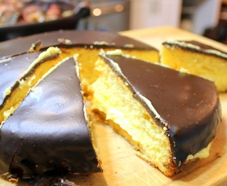 EASY Boston Cream Pie - 52 Cakes and Pies at Home and Church PotLuck Desserts