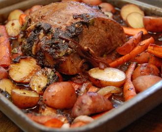 Simple Pot Roast Recipe with Root Vegetables