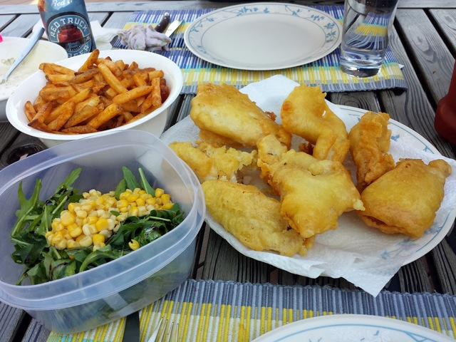 Light and Crispy Fish & Chips