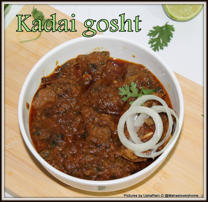Kadai gosht | Kadai mutton | karahi mutton | Karahi gosht | mutton kadai | Kadai Mutton fry | kadai lamb fry | karahi gosht recipe | Mughlai mutton recipes