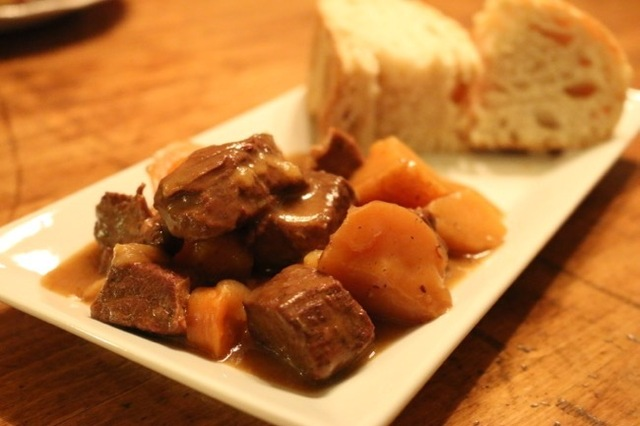 Crockpot Apple Cider Beef Stew