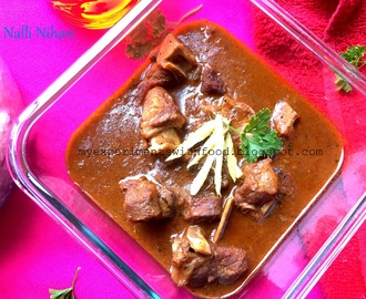 Nalli Nihari/ Slow cooked Mutton in Spices