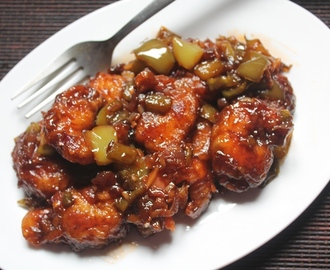 Prawn Manchurian Recipe - Chilli Prawn Manchurian Dry Recipe