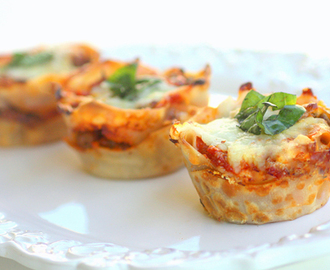 How To Make A Bite Size Lasagna Cupcake...