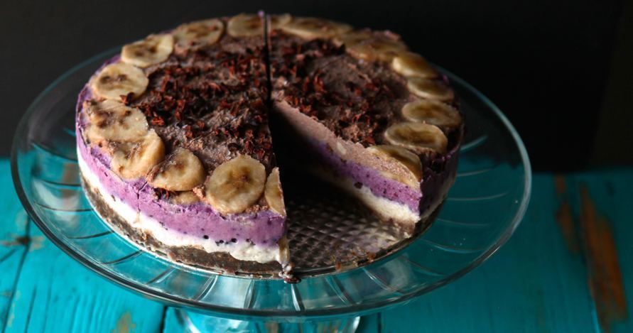 Banana Split Raw Ice Cream Cake