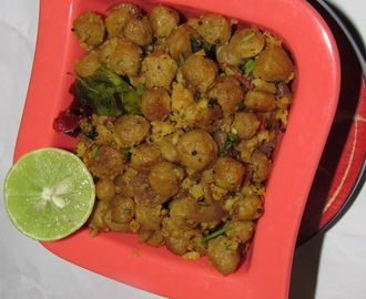 Pepper Soya Chuncks | Soya chunks pepper fry