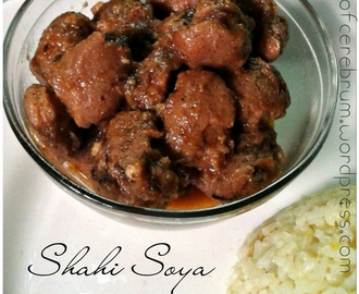 Shahi Soya Chunks(My family's gravy based meal maker recipe)