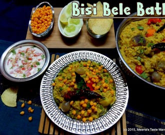 Bisi Bele Bath | Sambar Sadam - a hot lentil based aromatic Traditional Rice Recipe from Karnataka!