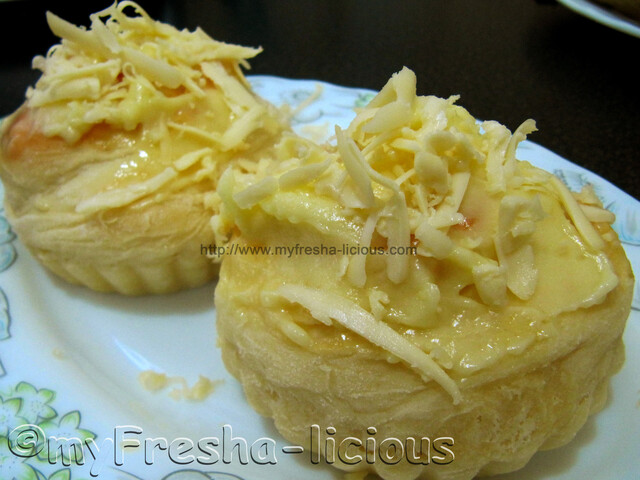 Ensaymada with Butter-Cream Cheese Topping