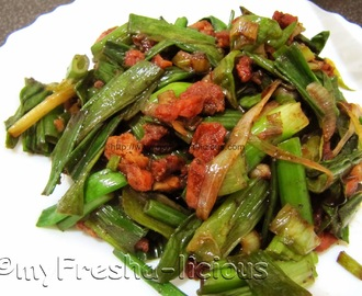 Sauteed Green Onion Leaves