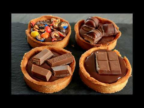 Tartelette chocolat caramel au M&M'S, kinder country, kinder buenos, Kit Kat