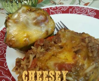 Cheesey Slow Cooker Stuffed Bell Peppers (Freezer Friendly Link)