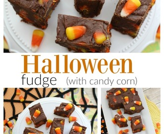 Halloween Fudge Recipe (with candy corn)