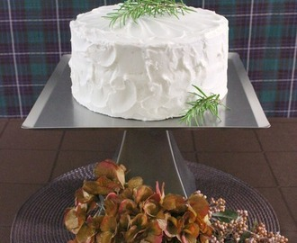 Vanilla Rosemary Layer Cake