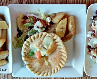 Chicken Pot Pie – Cinnamon Apple & Pear Salad – Easy Fall Meal