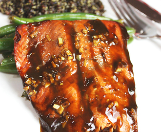 Lemon Balsamic Glazed Salmon