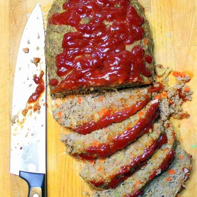 Roasted Garlic Buffalo Meatloaf - 52 Church PotLuck Dishes