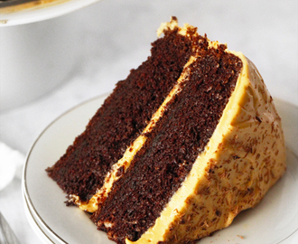 Chocolate Cake with Dulce de Leche Cream Cheese Frosting