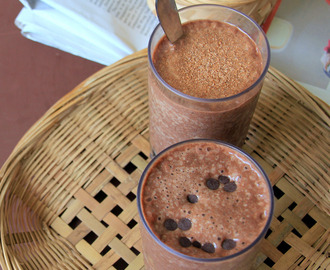 Chocolate mocha breakfast shake - Simple breakfast shake with Banana and coffee