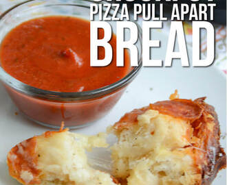 Crockpot Pizza Pull Apart Bread