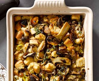 Dishing Out Recipes: Wild Mushroom and Leek Stuffing